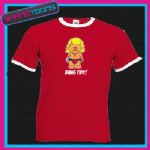 KEITH LEMON INSPIRED CARTOON BANG TIDY! RINGER RETRO FUNNY TSHIRT